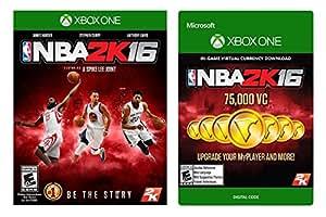 Amazon.com: NBA 2K16 Game + 75,000 VC - Xbox One [Digital