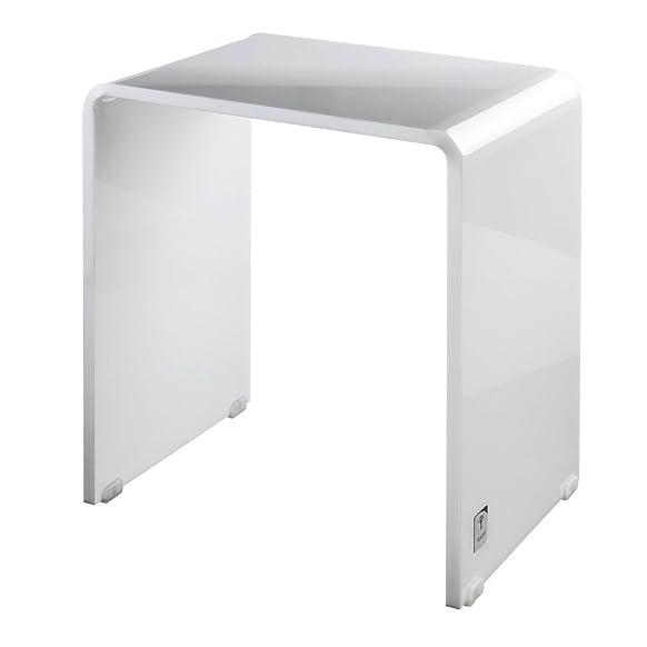 Joop. Lifestyle doccia sgabello bianco–dimensioni: 42x 42cm