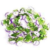 Guirnalda Artificial De La Vid De La Flor Para La Decoración Del Jardín De La Boda En Casa – Púrpura