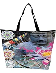 Snoogg Buddha Stands For Peace Waterproof Bag Made Of High Strength Nylon