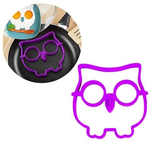 OFTENから出品 人気!!!目玉焼きの型 フクロウエッグモールドパンケーキモールド 紫色(パープル)