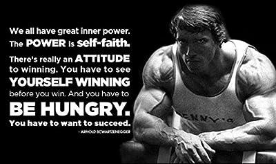 Arnold Schwarzenegger Inspiration Bodybuilding poster 40 inch x 24 inch / 21 inch x 13 inch