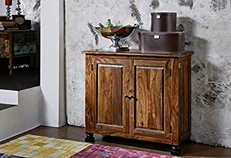 Kolonialstil Palisander massiv Holz Möbel Sideboard Sheesham vollmassiv lackiert Massivmöbel Boston #209