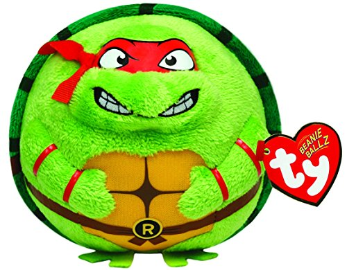Ty Beanie Ballz Raphael Mask, Red - 1