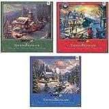 Thomas Kinkade 2015 Set of Three 1000pc Jigsaw Puzzles Christmas Sleigh Ride / All Aboard & High Country Christmas