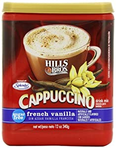 Hills Bros Cappuccino Sugar-Free French Vanilla, 12 Ounce