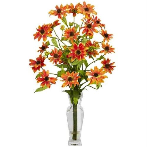 Cosmos with Vase Silk Floral Arrangements 1172-OR