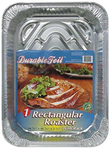 Durable Packaging D42110 3-in-1 Roasting Pan, 12-3/4