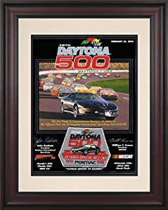 NASCAR Daytona 500 Program Framed Vintage Advertisement Race Year: 38th Annual - 1996 by Mounted Memories