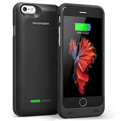 Custodia iPhone 6 / iPhone 6S RAVPower Batteria Protettiva da 3000mAh (Cover Case con 125% Batteria Extra, Certificato MFi, 2-Piece Sliding Design, Leggero e Compatto, 18 mesi di Garanzia)