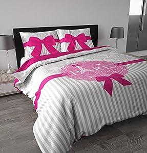 sleeptime housse de couette i love paris 200x200 220. Black Bedroom Furniture Sets. Home Design Ideas