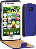 OneFlow Premium FLIP Case / Cover / Schutzhülle - für Samsung Galaxy S2 (GT-i9100 / GT-i9105 PLUS) - KÖNIGSBLAU