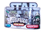 Star Wars Galactic Heroes 2 Pack 2 Inch Tall Action Figure - Yoda with Green ...