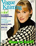 Vogue Knitting International - Fall/Winter 1988 (Time To Knit - Color ! Elizabeth Zimmermann: An Interview, Make It Easy: 7 Quick Knits)