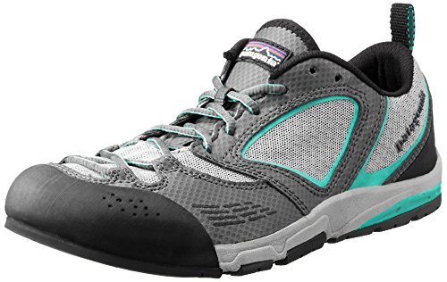 Patagonia Women's Rover Trail Running Shoe,Forge Grey/Desert Turquoise,8 M US