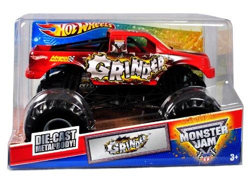 grinderhot-wheels-monster-jam-124-scale-die-cast-metal-body-official-monster-truck-2011-series-t8515