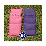 "8 Standard Corn-Filled Regulation 6""x6"" Duck Cloth Cornhole Bags (choose your colors) (Pink & Purple)"