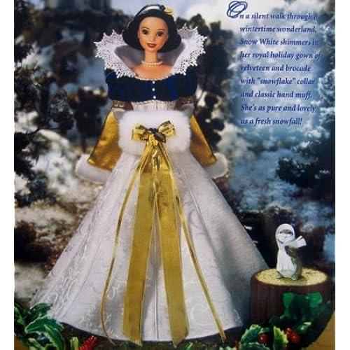 Disney's (디즈니) Snow White (백설 공주와 일곱 난쟁이) Holiday Princess Barbie(바비) 돌 인형 피규어(병행수입)
