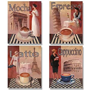 Http Www Amazon Com Coffee Posters Kitchen Decor Paris Dp B000ghxjku