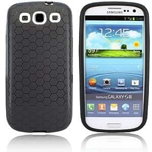 Schutzhülle passend für Power Akku Samsung Galaxy S3 GT-i9300 - Schwarz