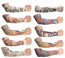 Jack& Ginni Sun Protector Arm Sleeves- Pack Of 10 Pairs