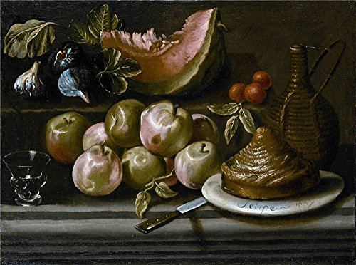 Polyster Canvas ,the Best Price Art Decorative Prints On Canvas Of Oil Painting 'Ochoa Gabriel Felipe De (Attributed To) Bodegon De Frutas Garrafa Y Vaso De Vidrio 1667 ', 30 X 40 Inch / 76 X 103 Cm Is Best For Gym Decor And Home Decor And Gifts (Word Sea R Ch compare prices)