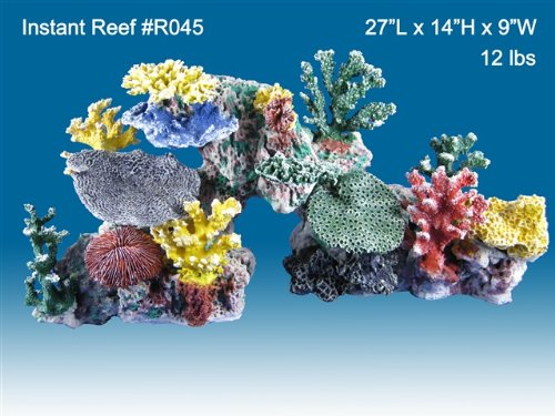 Instant Reef #045 Artificial Coral Reef Aquarium Decoration for Saltwater Fish, Marine Fish Only with Live Rock Aquarium, Coral Reef Tank, Freshwater Aquarium. Gorgeous Corals, Non-Toxic, Easy to Clean. Reef Aquarium at Saltwater Fish Only Tank costs