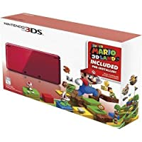 Nintendo 3DS Holiday Bundle - Flame Red with Super Mario 3D Land Pre-Installed by Nintendo