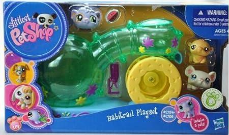 Littlest Petshop - EXCLUSIF - 24982 - Habitrail Playset / Maison de Petshop - incl. 3 Petshops - Cochons d'Inde #1754 & Hamster #1755 & Souris #1756