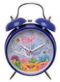 Alarm clock in blue with Shark design - battery operated