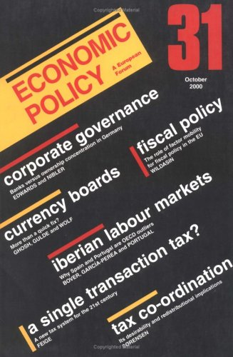 Economic Policy 31 (No. 31)