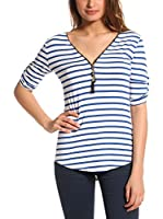 FRENCH CODE Top Ilda (Azul Royal / Blanco)