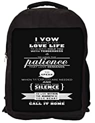 Snoogg Call It Home Backpack Rucksack School Travel Unisex Casual Canvas Bag Bookbag Satchel