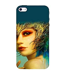 printtech Cute Beautiful Anime Girl Back Case Cover for Apple iPhone 4