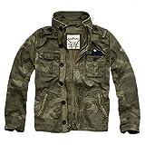 (カリホリ) Cali Holi ミリタリージャケット シャツジャケット トラックジャケット ミリジャケ メンズ 並行輸入品 (XL, D/カモ柄)