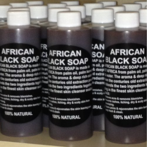 100% Pure Authentic Liquid African Black Soap From Ghana