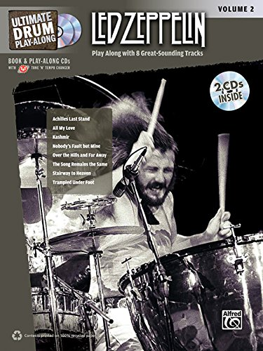Ultimate Drum Play-Along Led Zeppelin, Vol 2: Authentic Drum (Book & 2 Cds)