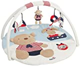 Fehn 3D Activity Quilt Teddy/ Hare (Navy/ Red)