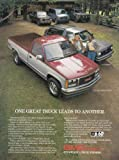 1987 GMC Sierra Pickup, S-15 Jimmy, GMC Print Ad