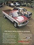 1987 GMC Sierra Pickup, S-15 Jimmy, GMC Print Ad