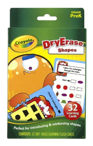 Crayola Dry Erase Learning Flash Cards Shapes