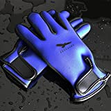 Sleek Water Gloves/Kayaking Gloves/Fishing Gloves/Diving Gloves/Neoprene Glove,Adventure Scuba Dive Snorkeling Gloves/Adult 1.5mm Five Finger for Surfing,kayak,Water Sports,Men&Women(Blue, Middle)