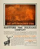 1901 Ad San Francisco Fire Hartford Connecticut Insurance Elk Big Game Hunting - Original Print Ad