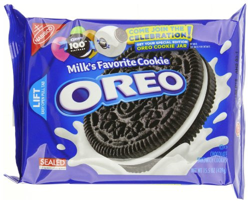 Oreo Chocolate Sandwich Cookie, 15.5-Ounce (Pack of 4)