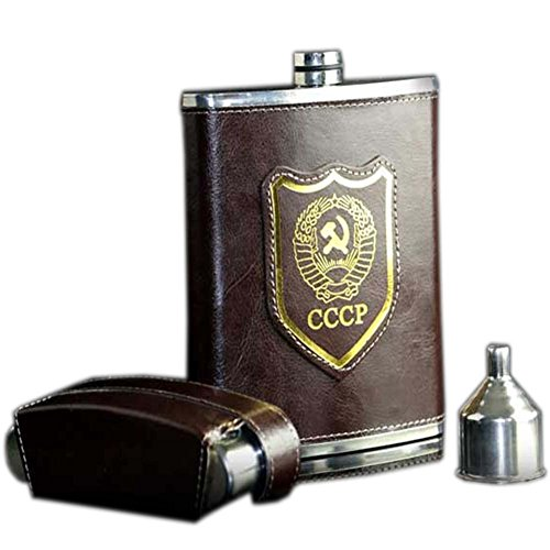 [CCCP] Retro Creative Hiking/Camping Stainless Steel Hip Flask Set, 18