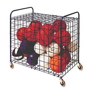 Champion Sports : Portable Lockable Ball Storage Hopper Cart, 24-Ball Capacity, Black... by Champion Sports