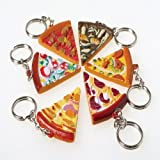 Lot Of 12 Assorted Pizza Slice Key Chains