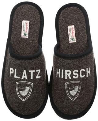 Adelheid Platzhirsch Filzpantoffel, Herren Pantoffeln, Braun (rindenbraun/307), 40/41 EU