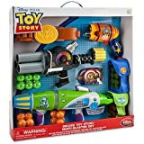 Disney Store Toy Story Multi-Blaster Play Set with Buzz Lightyear, Woody and Zurg Blasters (Foam/Nerf Guns)