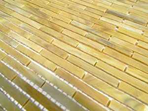 Venetian Collection Stained Glass Desert Bamboo Pattern